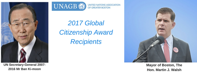 2017 Global Citizenship Award Recipients